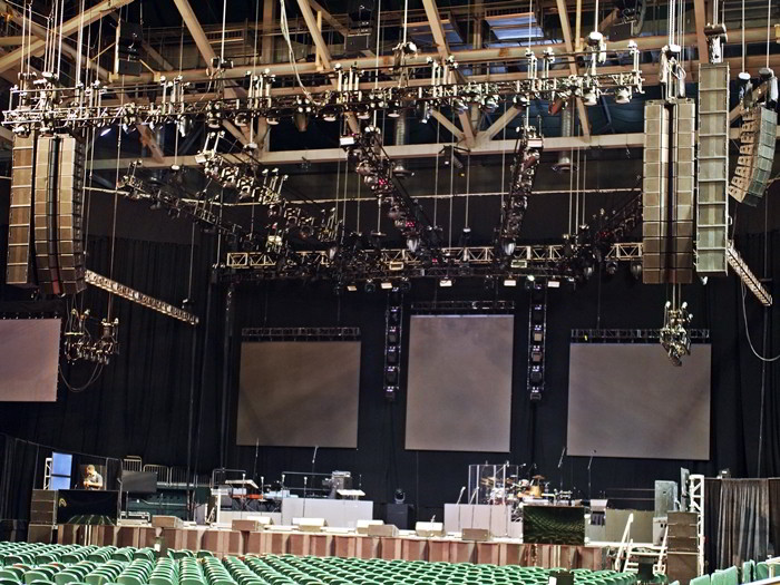 Turbosound Flashline linearray system at Watsco Center Miami Florida