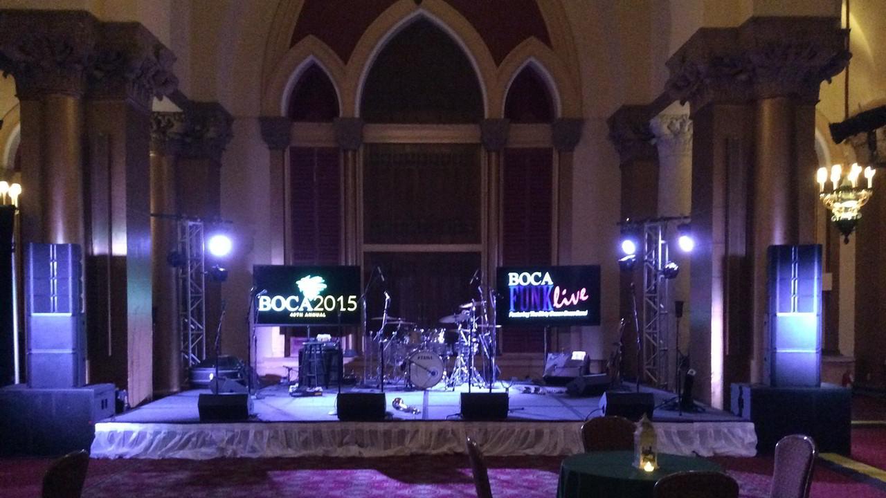 Sound Media events. Live Band Setup in Boca Raton