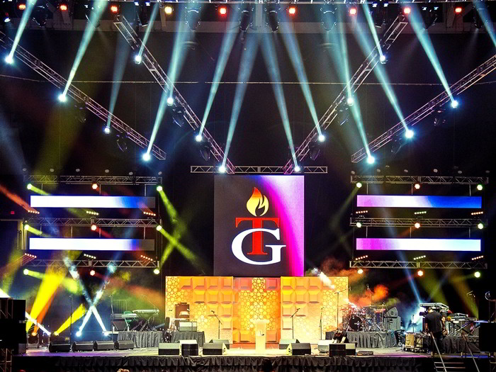 Sound Media event with large concert lighting system LED Video display wall rental