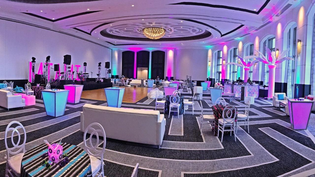 SoundMediaOne.com Special Event lighting ant Loews Miami Florida