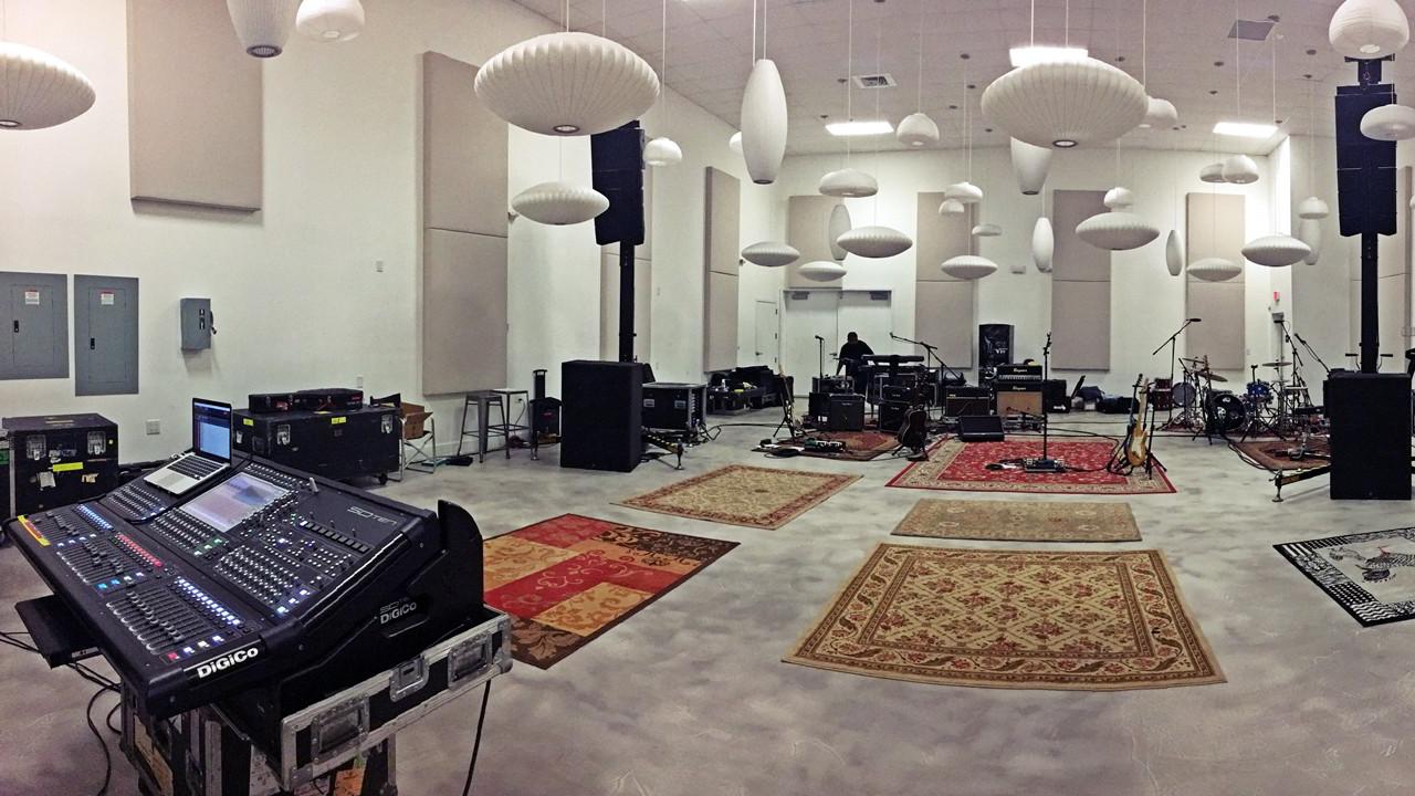 Sound Media Musician rehearsal studio audio system setup