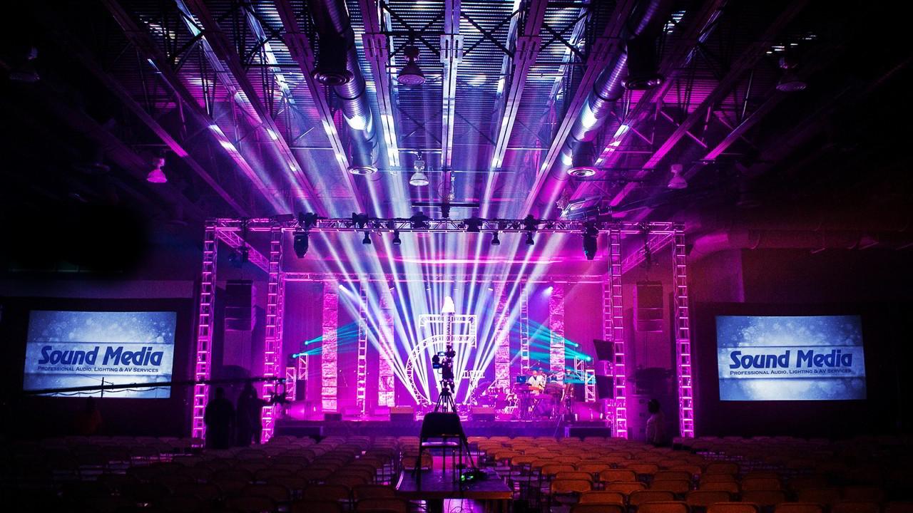 Sound Media, soundmediaone.com Lighting design and truss structure